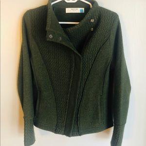 Anthropologie Sparrow Wool Zip Up Sweater